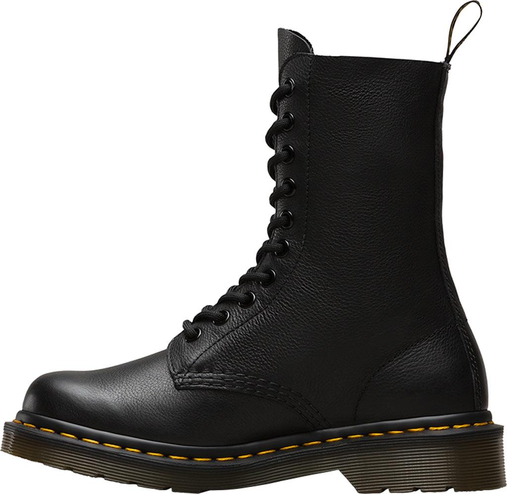 Dr. Martens 1490 10-Eyelet Boot, Black Virginia Nappa Leather, large, image 3