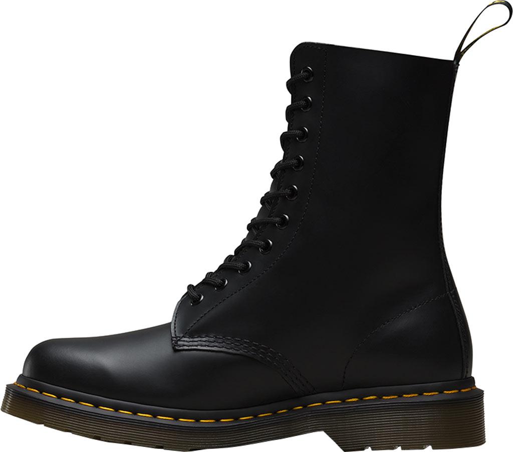 Dr. Martens 1490 10-Eyelet Boot, Black Smooth Leather, large, image 3