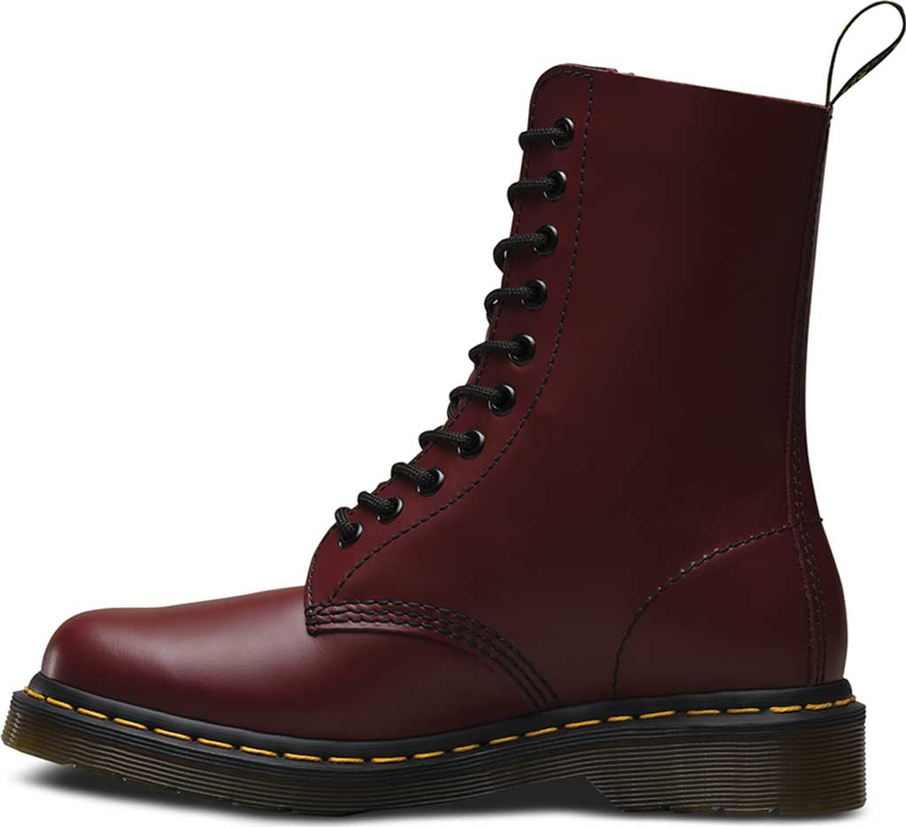 Dr. Martens 1490 10-Eyelet Boot, Cherry Red Smooth Leather, large, image 3