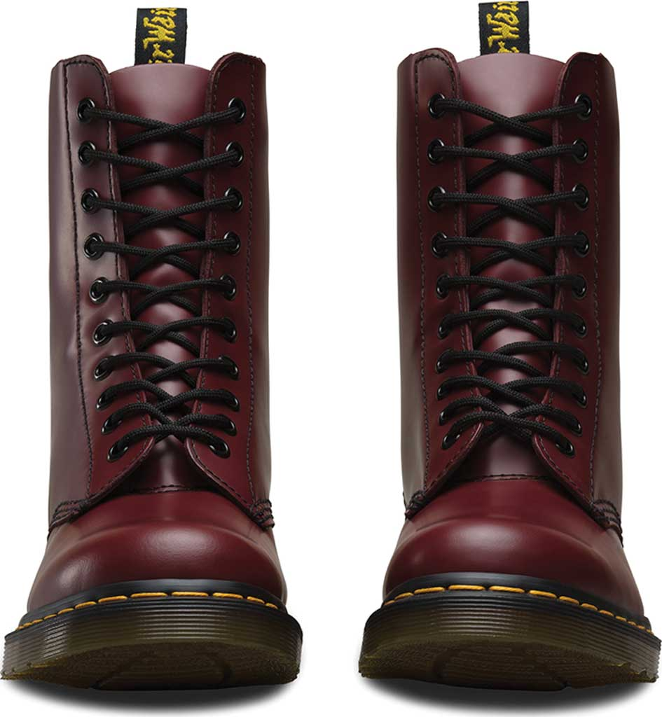 Dr. Martens 1490 10-Eyelet Boot, Cherry Red Smooth Leather, large, image 4