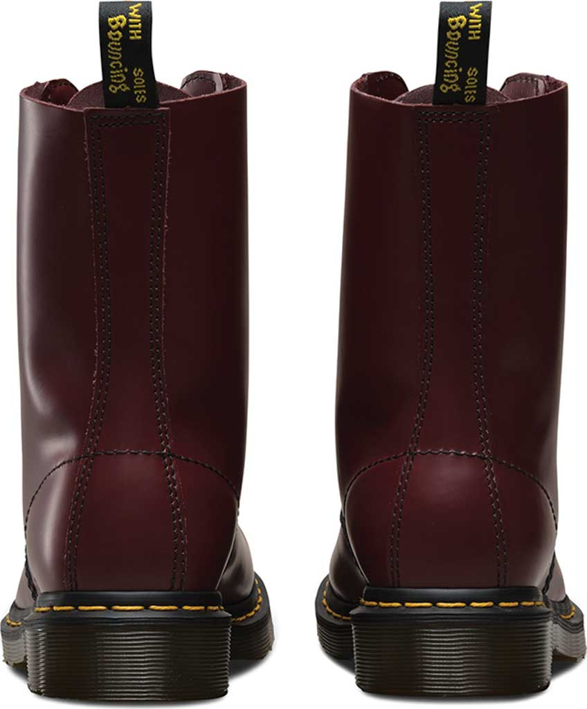Dr. Martens 1490 10-Eyelet Boot, Cherry Red Smooth Leather, large, image 5