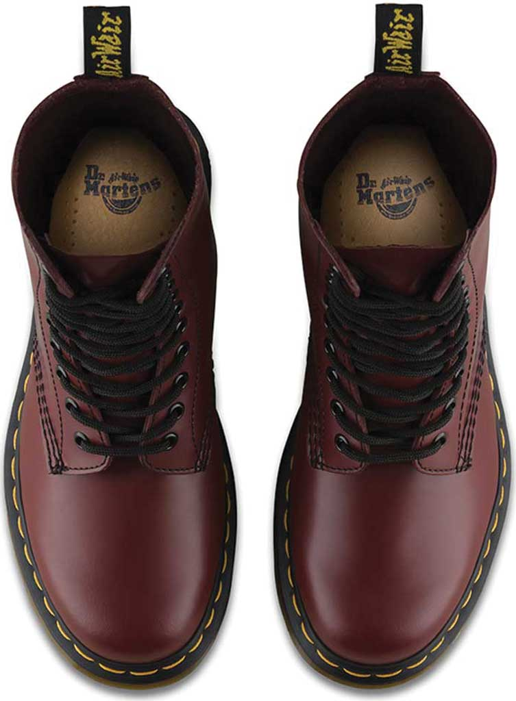 Dr. Martens 1490 10-Eyelet Boot, Cherry Red Smooth Leather, large, image 6