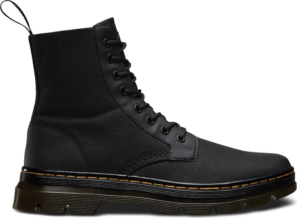 Dr. Martens Combs 8-Eye Boot, Black Extra Tough Nylon/Rubbery, large, image 2