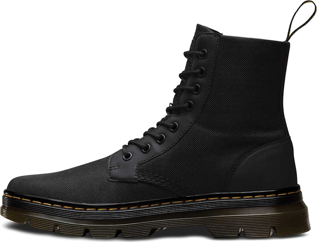 Dr. Martens Combs 8-Eye Boot, Black Extra Tough Nylon/Rubbery, large, image 3