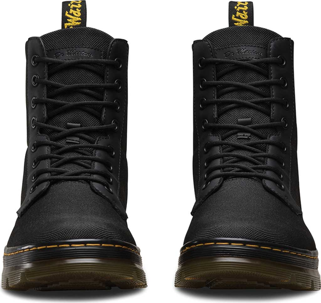 Dr. Martens Combs 8-Eye Boot, Black Extra Tough Nylon/Rubbery, large, image 4