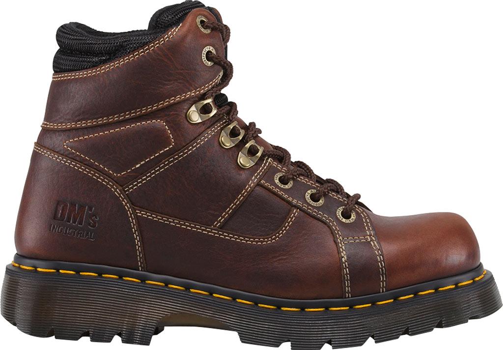 Dr. Martens Work Ironbridge Tec-Tuff Safety Toe 8 Tie Boot, Teak Industrial Trailblazer Tumbled Leather, large, image 2