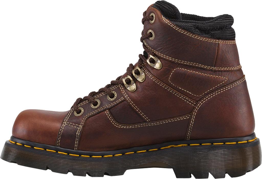 Dr. Martens Work Ironbridge Tec-Tuff Safety Toe 8 Tie Boot, Teak Industrial Trailblazer Tumbled Leather, large, image 3