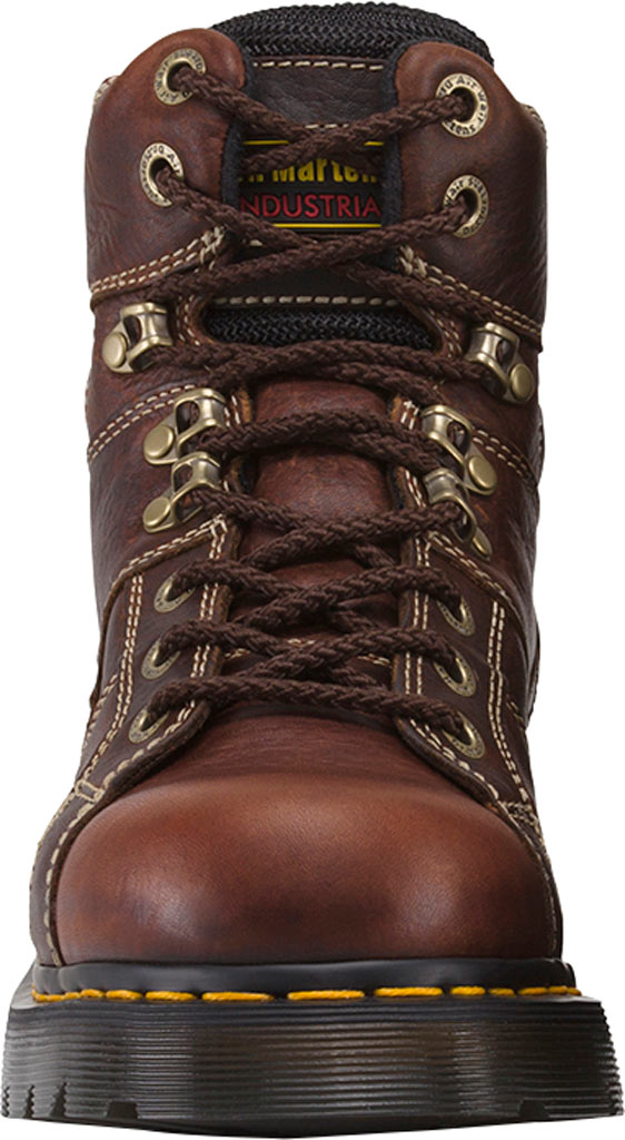Dr. Martens Work Ironbridge Tec-Tuff Safety Toe 8 Tie Boot, Teak Industrial Trailblazer Tumbled Leather, large, image 4