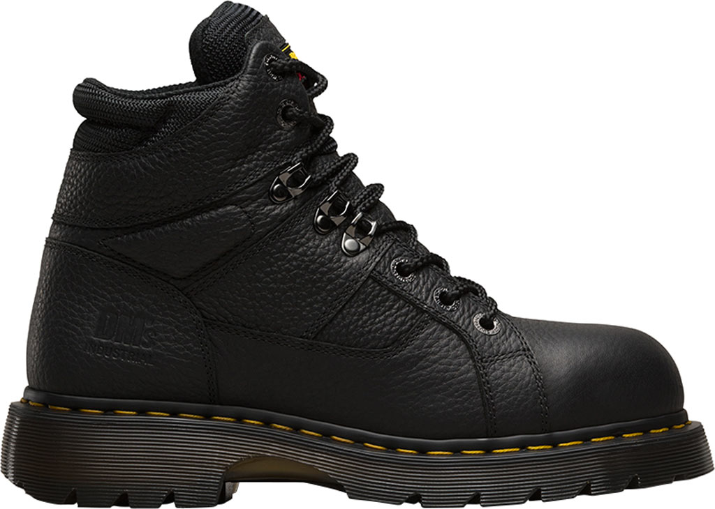 Dr. Martens Work Ironbridge Tec-Tuff Safety Toe 8 Tie Boot, Black Industrial Grizzly Full Grain (Steel Toe), large, image 2