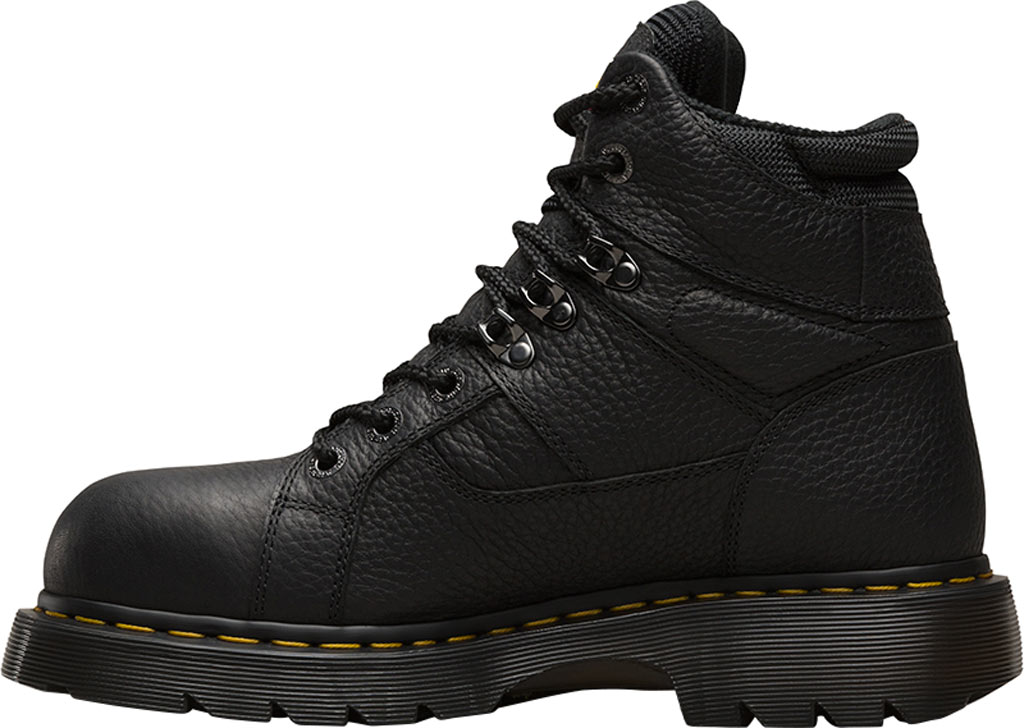 Dr. Martens Work Ironbridge Tec-Tuff Safety Toe 8 Tie Boot, Black Industrial Grizzly Full Grain (Steel Toe), large, image 3