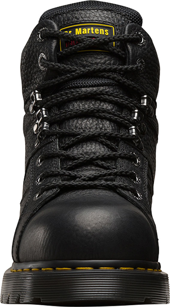 Dr. Martens Work Ironbridge Tec-Tuff Safety Toe 8 Tie Boot, Black Industrial Grizzly Full Grain (Steel Toe), large, image 4