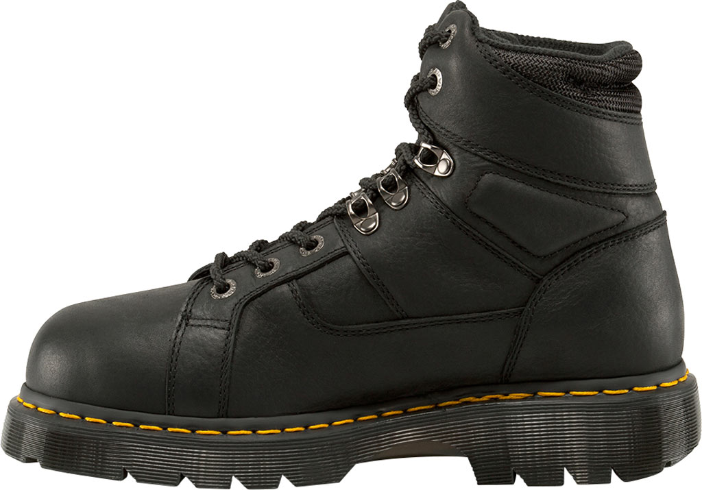Dr. Martens Work Ironbridge Tec-Tuff Safety Toe 8 Tie Boot, Black Industrial Grizzly Leather (Internal MG/ST), large, image 3
