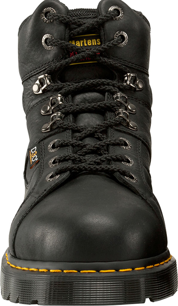 Dr. Martens Work Ironbridge Tec-Tuff Safety Toe 8 Tie Boot, Black Industrial Grizzly Leather (Internal MG/ST), large, image 4
