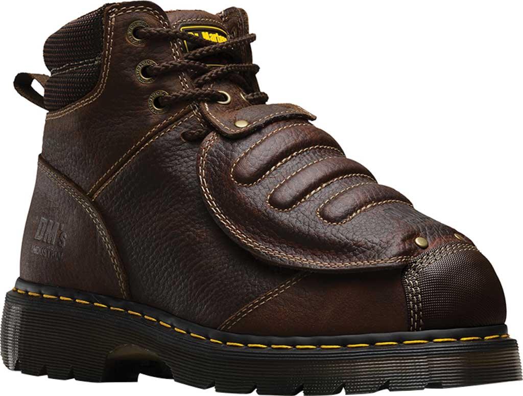 Dr. Martens Work Ironbridge Tec-Tuff Safety Toe 8 Tie Boot, Teak Industrial Trailblazer Tumbled (Met Guard/ST), large, image 1