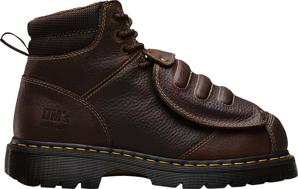 Dr. Martens Work Ironbridge Tec-Tuff Safety Toe 8 Tie Boot, Teak Industrial Trailblazer Tumbled (Met Guard/ST), large, image 2