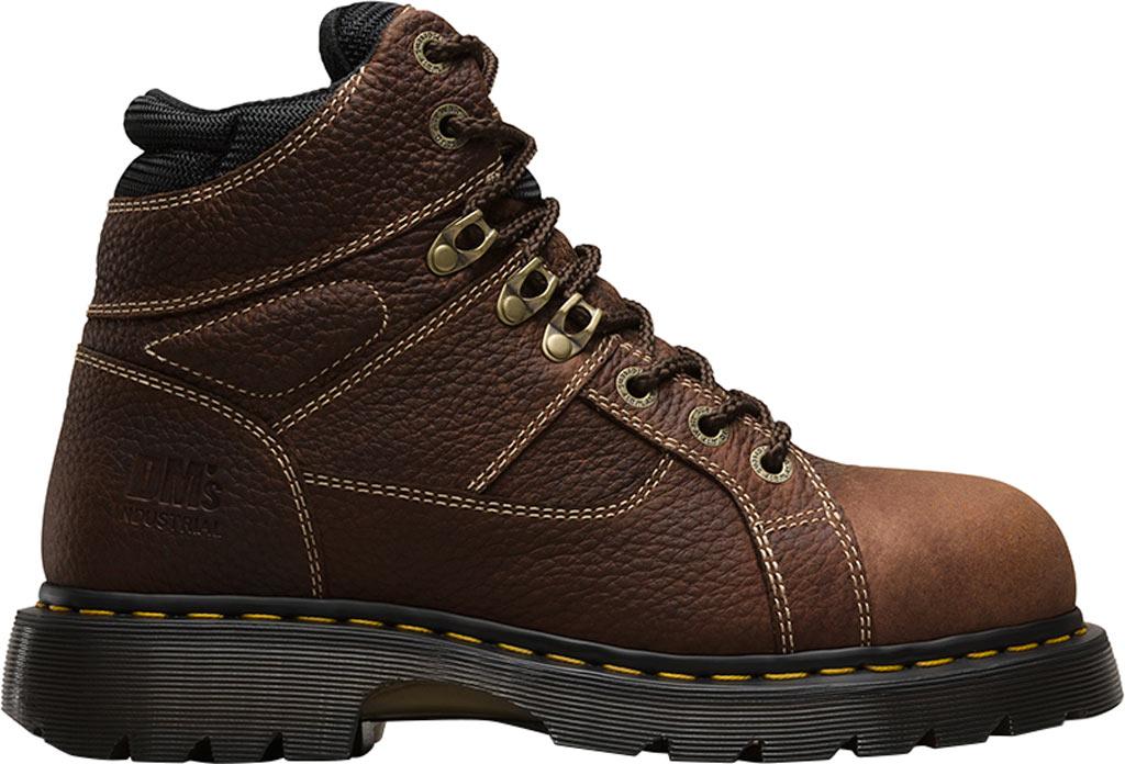 Dr. Martens Work Ironbridge Tec-Tuff Safety Toe 8 Tie Boot, Teak Industrial Trailblazer Tumbled (Steel Toe), large, image 2