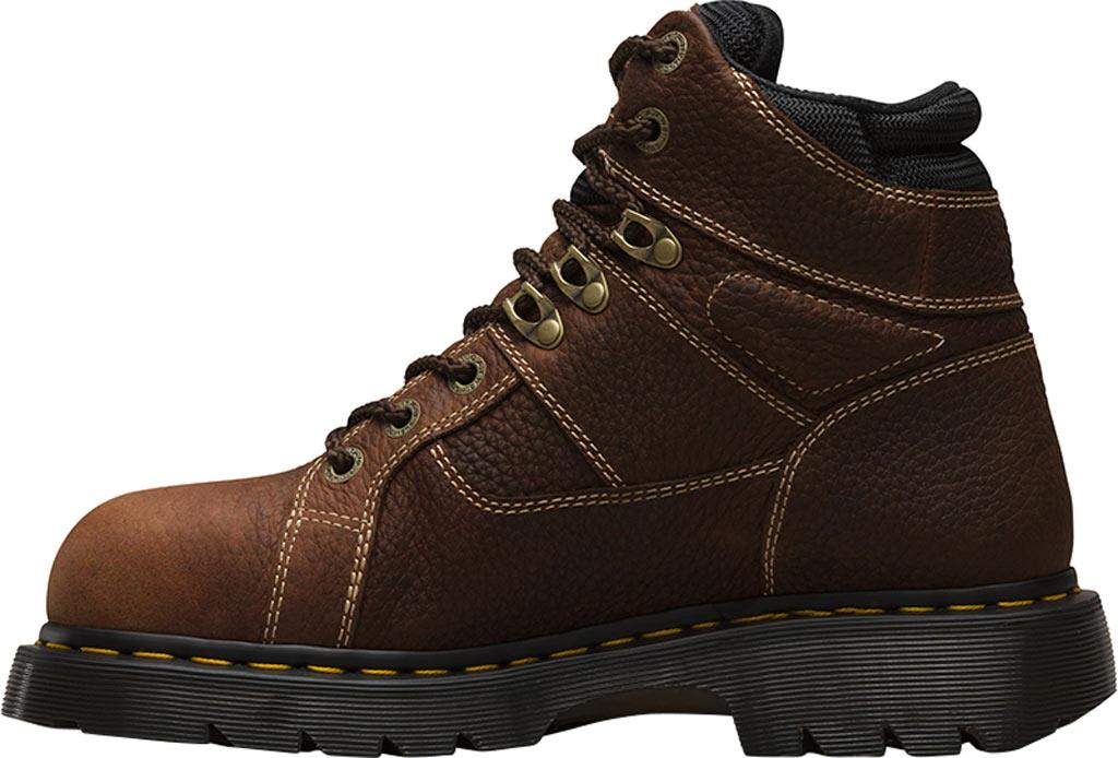 Dr. Martens Work Ironbridge Tec-Tuff Safety Toe 8 Tie Boot, Teak Industrial Trailblazer Tumbled (Steel Toe), large, image 3