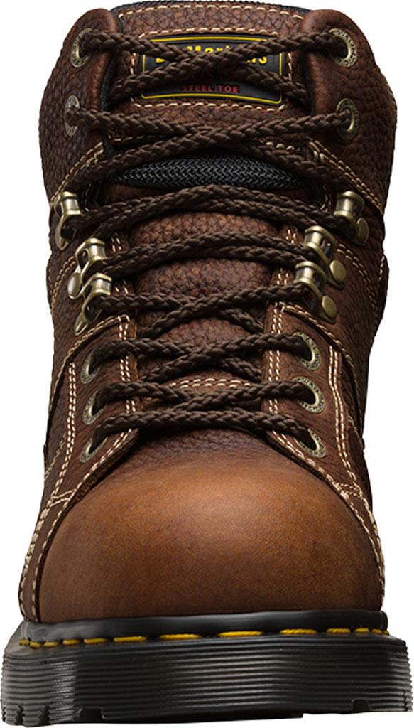 Dr. Martens Work Ironbridge Tec-Tuff Safety Toe 8 Tie Boot, Teak Industrial Trailblazer Tumbled (Steel Toe), large, image 4