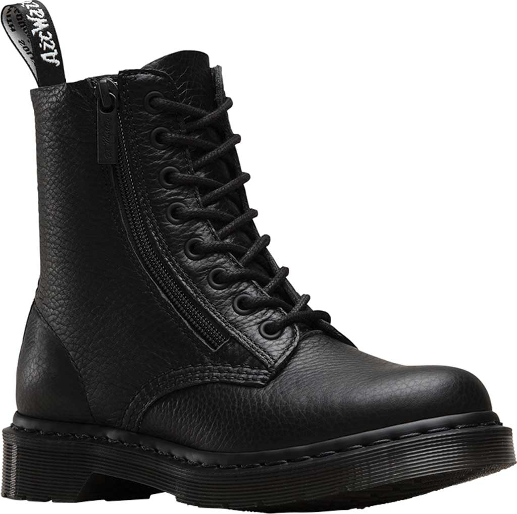 Women's Dr. Martens Pascal 8-Eye Zip Boot, Black Aunt Sally, large, image 1