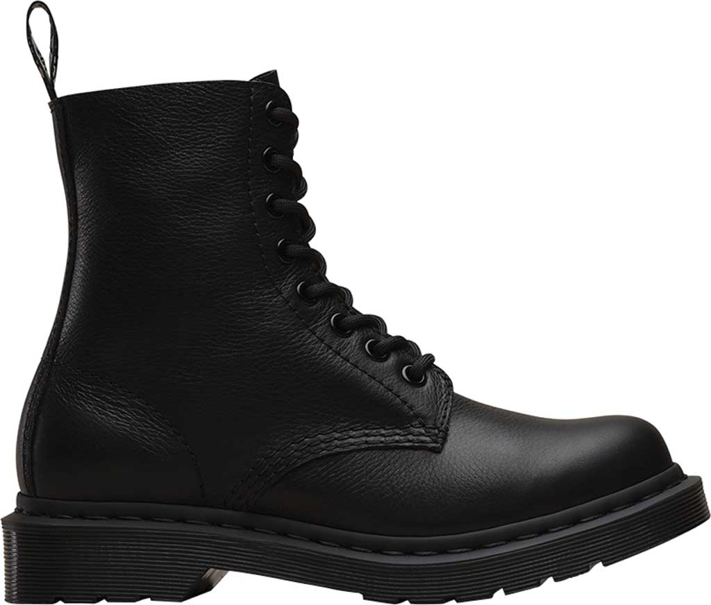 Women's Dr. Martens Pascal 8-Eye Zip Boot, Black Virginia Leather, large, image 2