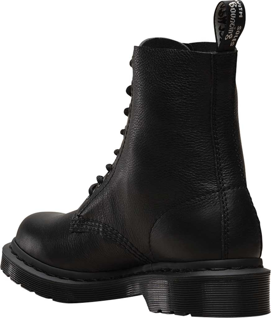 Women's Dr. Martens Pascal 8-Eye Zip Boot, Black Virginia Leather, large, image 3