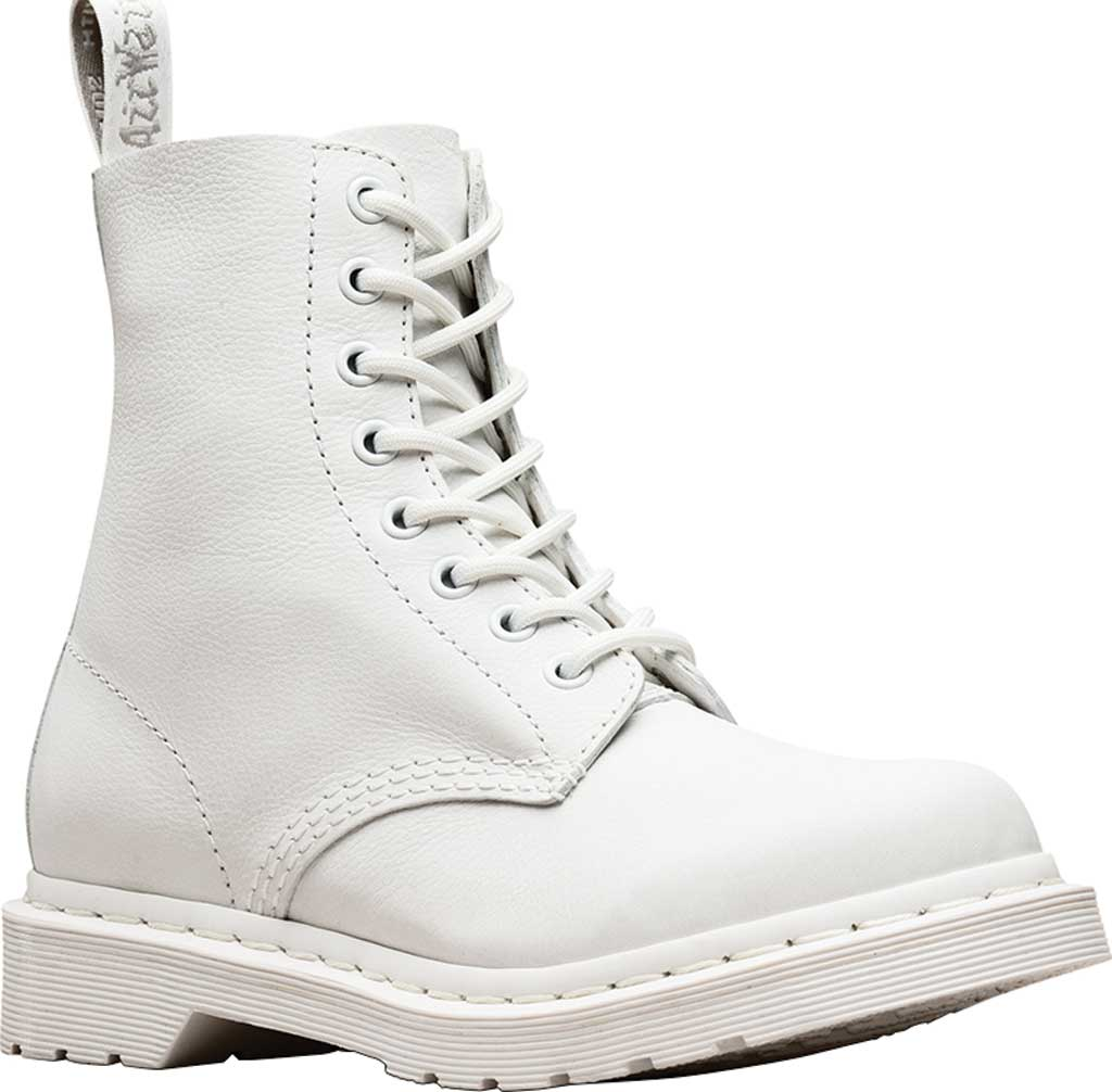 Women's Dr. Martens Pascal 8-Eye Zip Boot, Optical White Virginia Leather, large, image 1