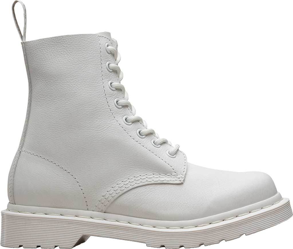 Women's Dr. Martens Pascal 8-Eye Zip Boot, Optical White Virginia Leather, large, image 2
