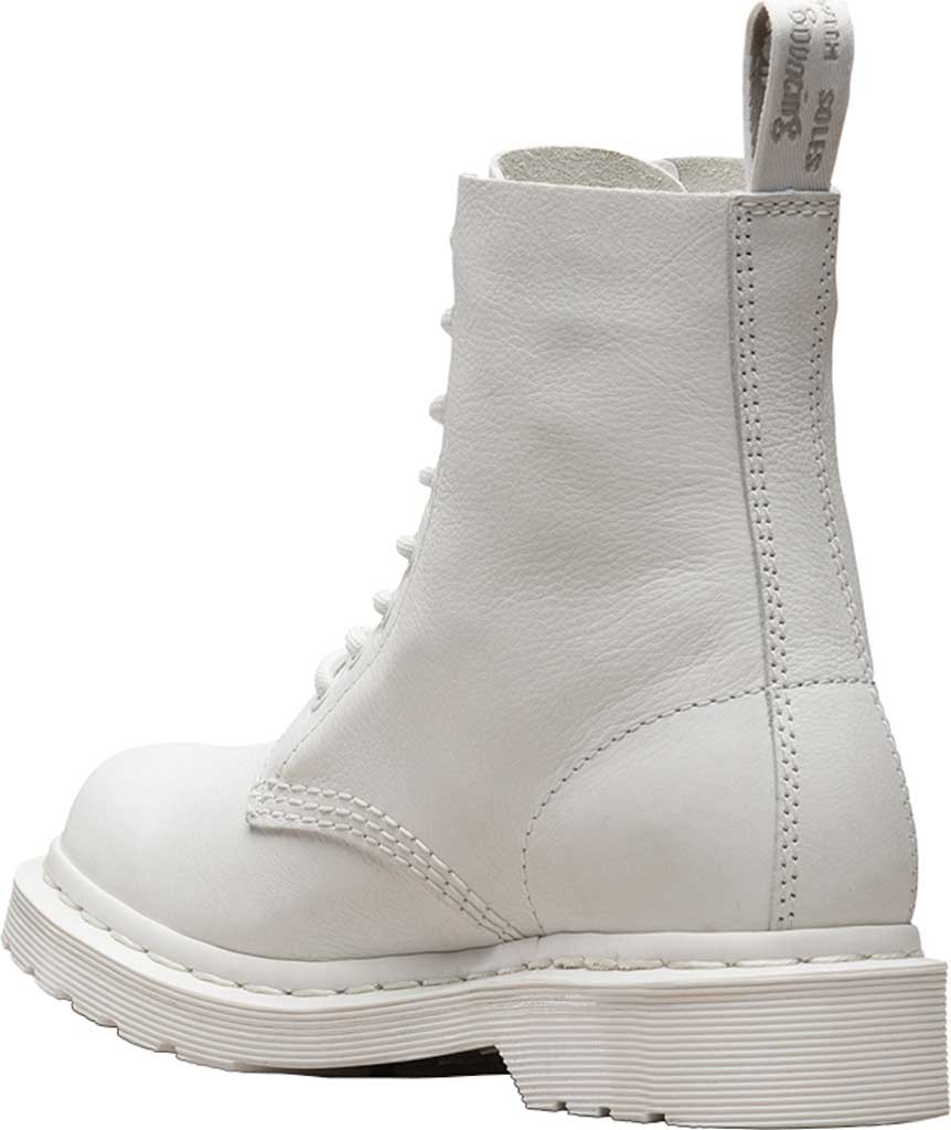 Women's Dr. Martens Pascal 8-Eye Zip Boot, Optical White Virginia Leather, large, image 3