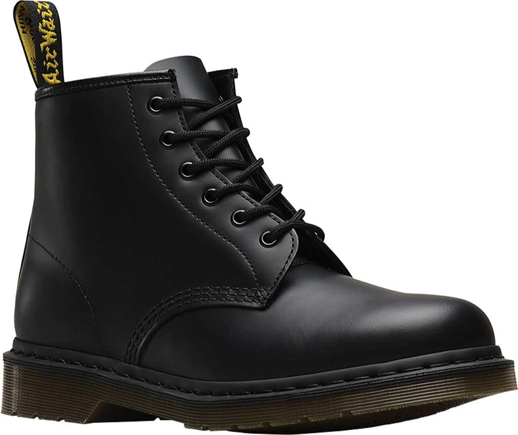 Dr. Martens 101 6-Eye Boot, Black Smooth Standard Leather, large, image 1