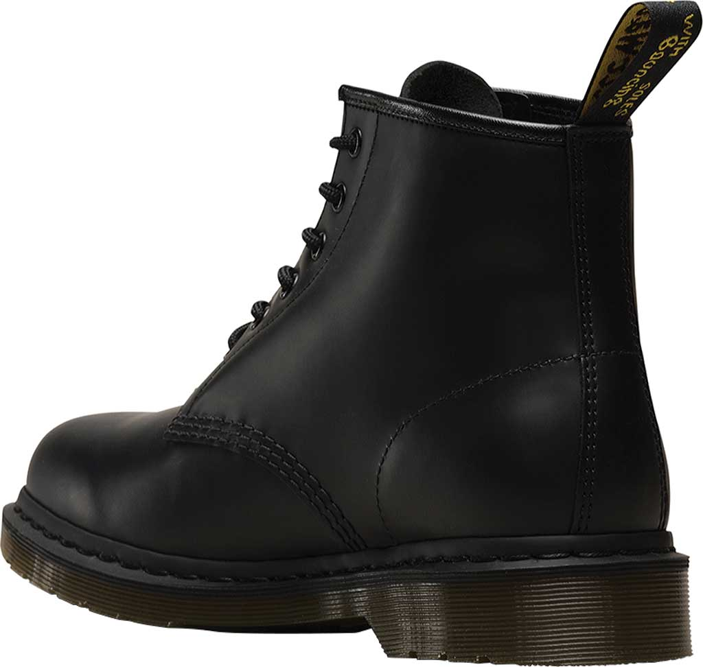 Dr. Martens 101 6-Eye Boot, Black Smooth Standard Leather, large, image 3