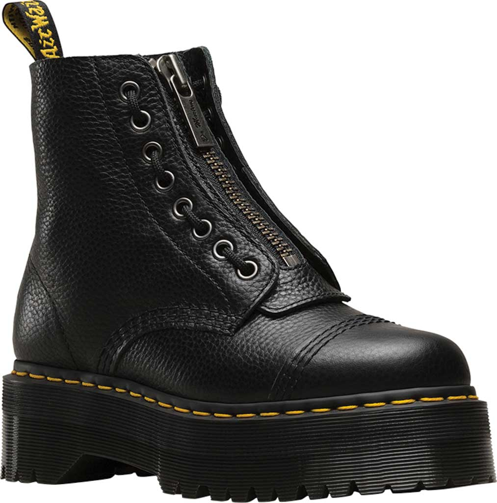 Women's Dr. Martens Sinclair 8-Eye Jungle Boot, Black Aunt Sally Tumbled Leather, large, image 1