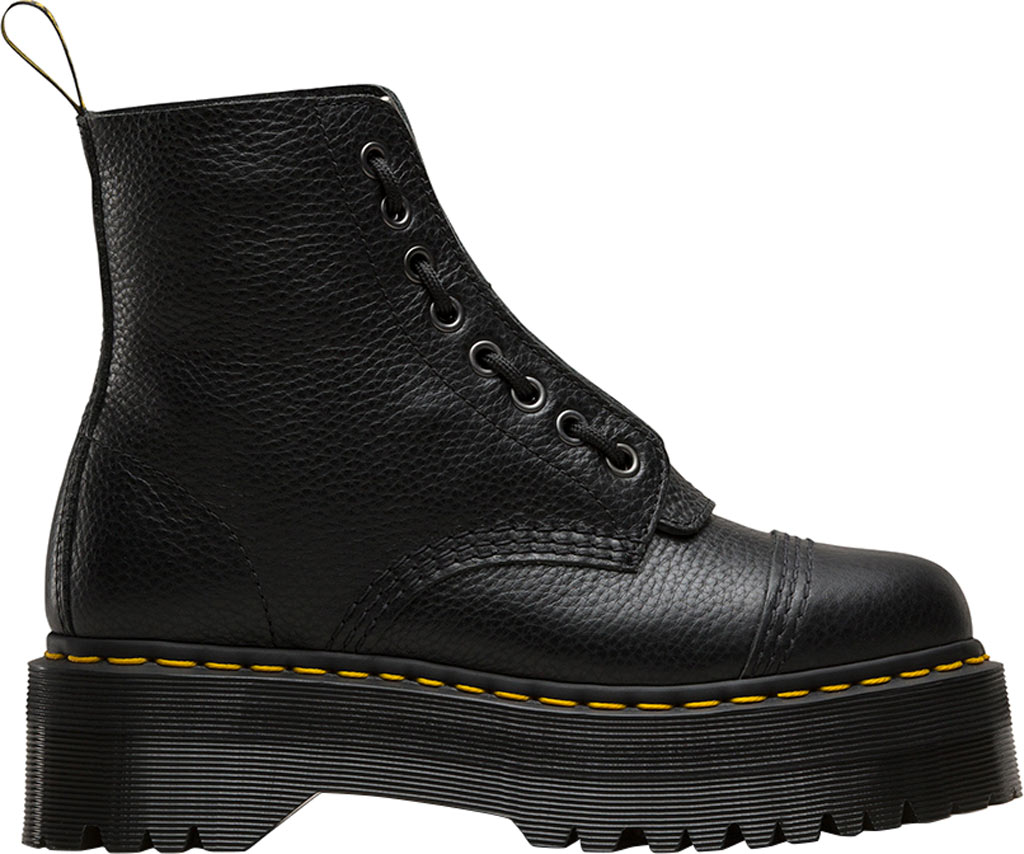 Women's Dr. Martens Sinclair 8-Eye Jungle Boot, Black Aunt Sally Tumbled Leather, large, image 2