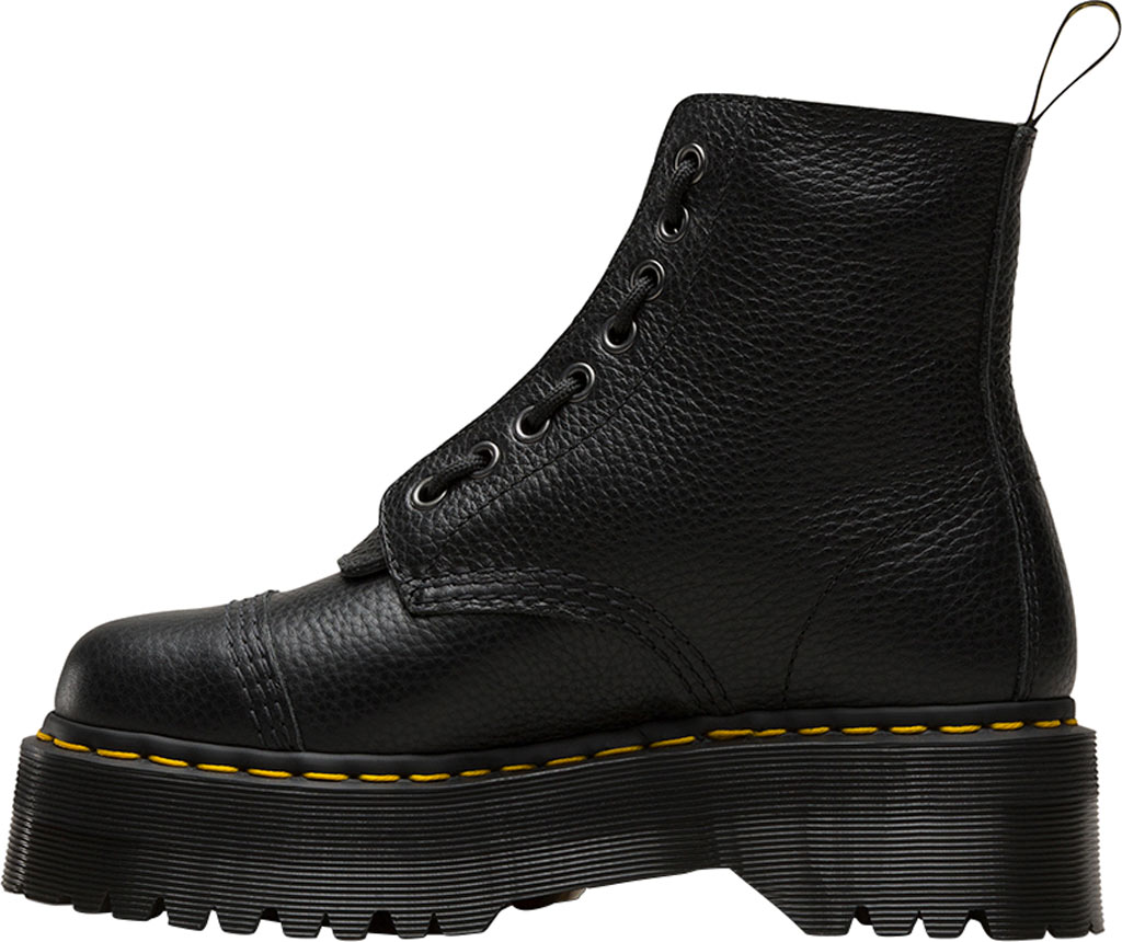 Women's Dr. Martens Sinclair 8-Eye Jungle Boot, Black Aunt Sally Tumbled Leather, large, image 3