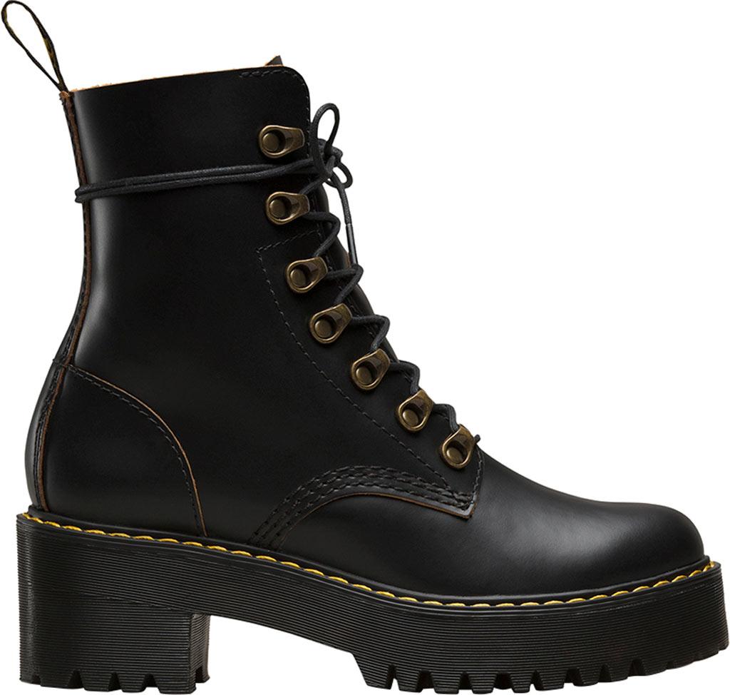 Women's Dr. Martens Leona 7-Eye Hiker Boot, Black Vintage Smooth Leather, large, image 2
