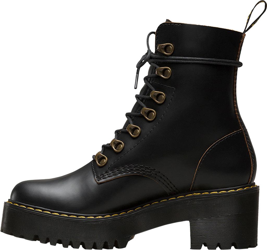 Women's Dr. Martens Leona 7-Eye Hiker Boot, Black Vintage Smooth Leather, large, image 3