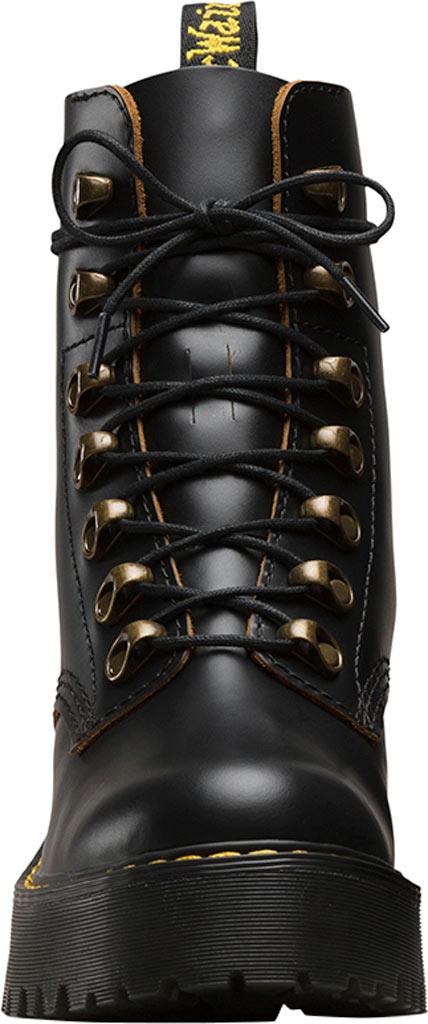 Women's Dr. Martens Leona 7-Eye Hiker Boot, Black Vintage Smooth Leather, large, image 4