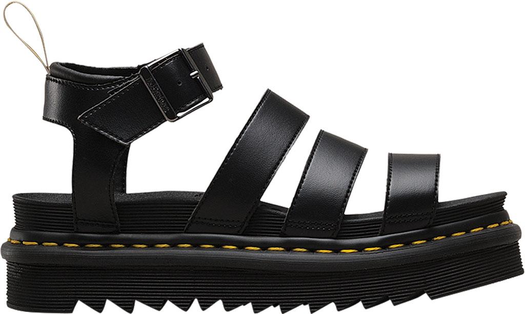 Women's Dr. Martens Vegan Blaire Strappy Sandal, Black Felix Rub Off/Soft Polyurethane, large, image 2