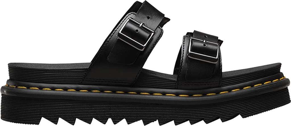 Dr. Martens Myles Slide, Black Brando Full Grain Waxy Leather, large, image 2