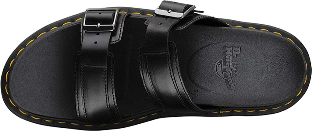 Dr. Martens Myles Slide, Black Brando Full Grain Waxy Leather, large, image 4