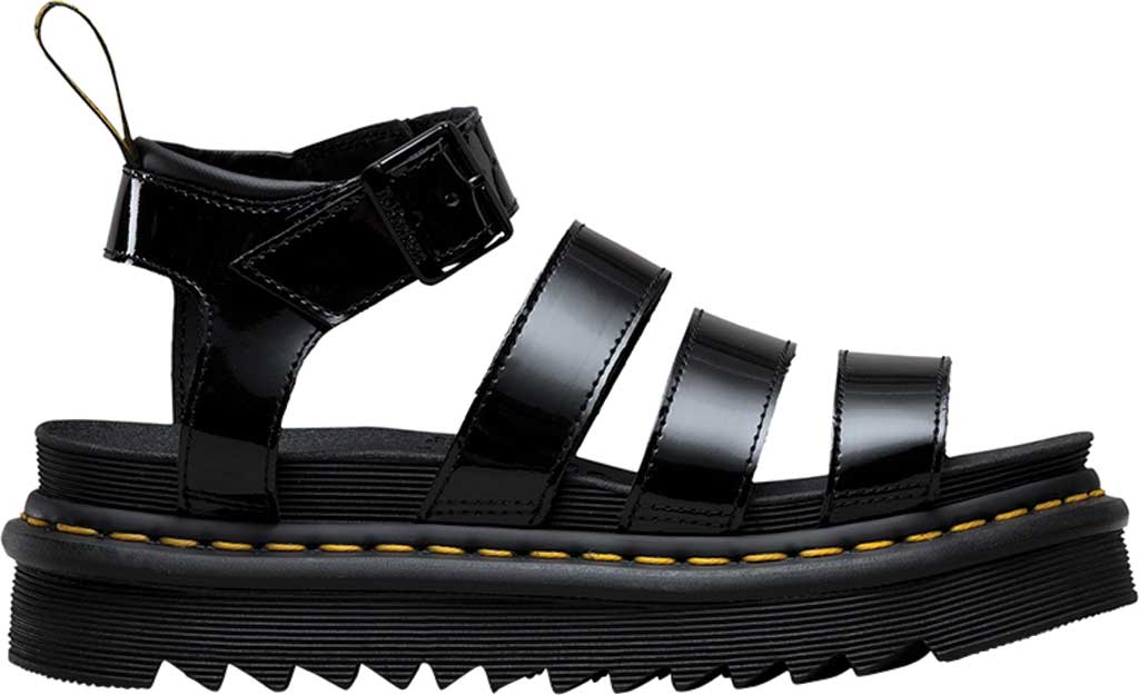 Women's Dr. Martens Blaire Strappy Sandal, Black Patent Lamper Leather, large, image 2
