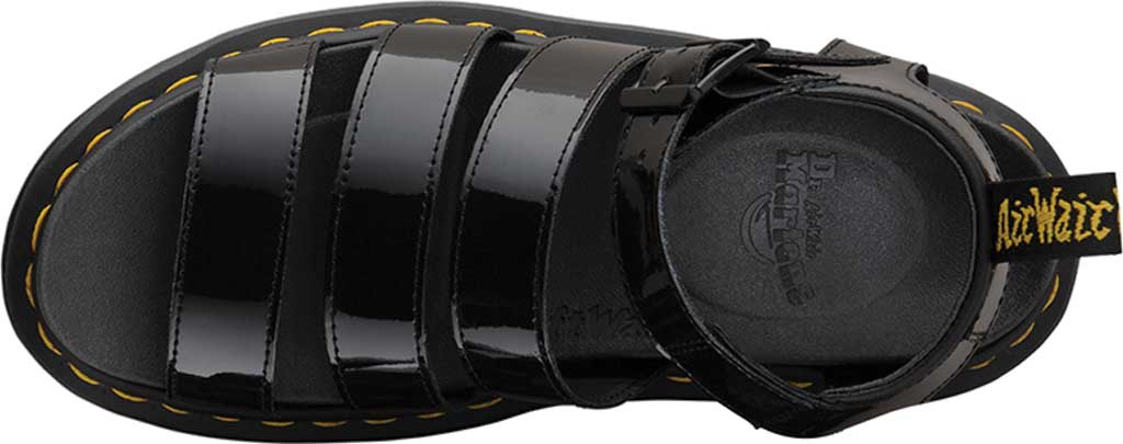 Women's Dr. Martens Blaire Strappy Sandal, Black Patent Lamper Leather, large, image 4