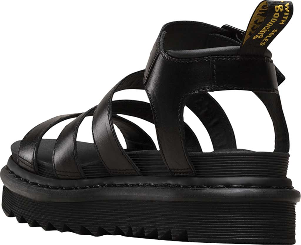 Women's Dr. Martens Blaire Strappy Sandal, Black Brando Full Grain Waxy Leather, large, image 3