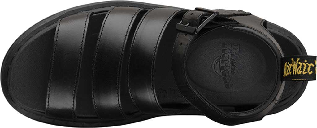 Women's Dr. Martens Blaire Strappy Sandal, Black Brando Full Grain Waxy Leather, large, image 4