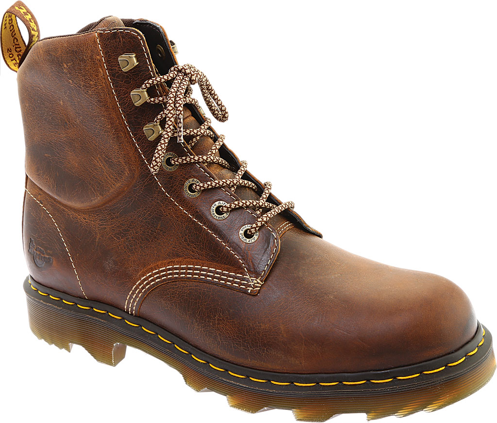 Men's Dr. Martens Work Crofton 7-Eye Work Boot, Tan Greenland Waxy Two Tone Leather, large, image 1