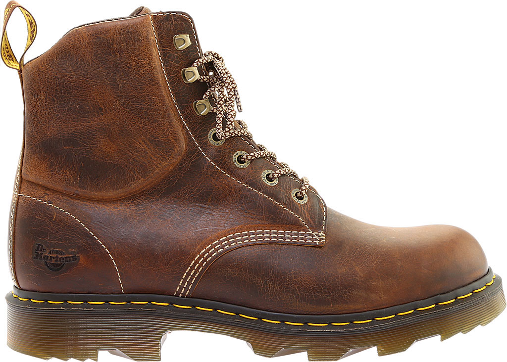 Men's Dr. Martens Work Crofton 7-Eye Work Boot, Tan Greenland Waxy Two Tone Leather, large, image 2