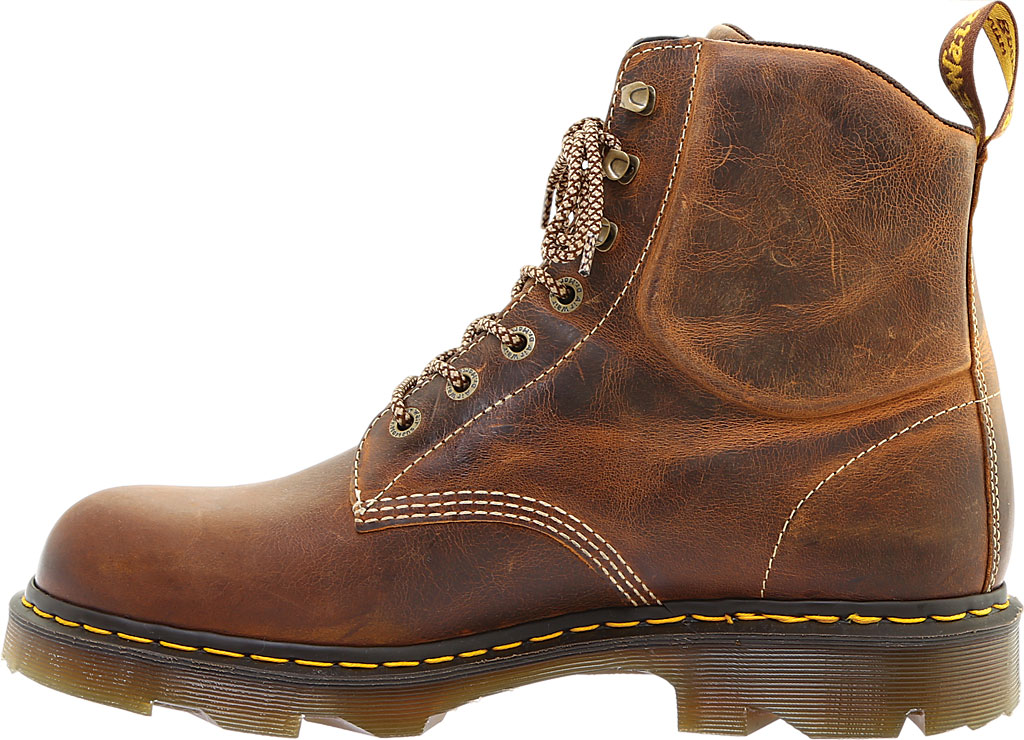 Men's Dr. Martens Work Crofton 7-Eye Work Boot, Tan Greenland Waxy Two Tone Leather, large, image 3