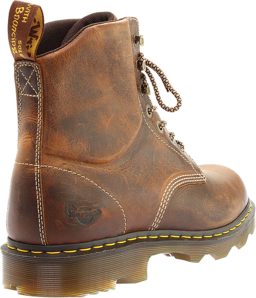 Men's Dr. Martens Work Crofton 7-Eye Work Boot, Tan Greenland Waxy Two Tone Leather, large, image 4