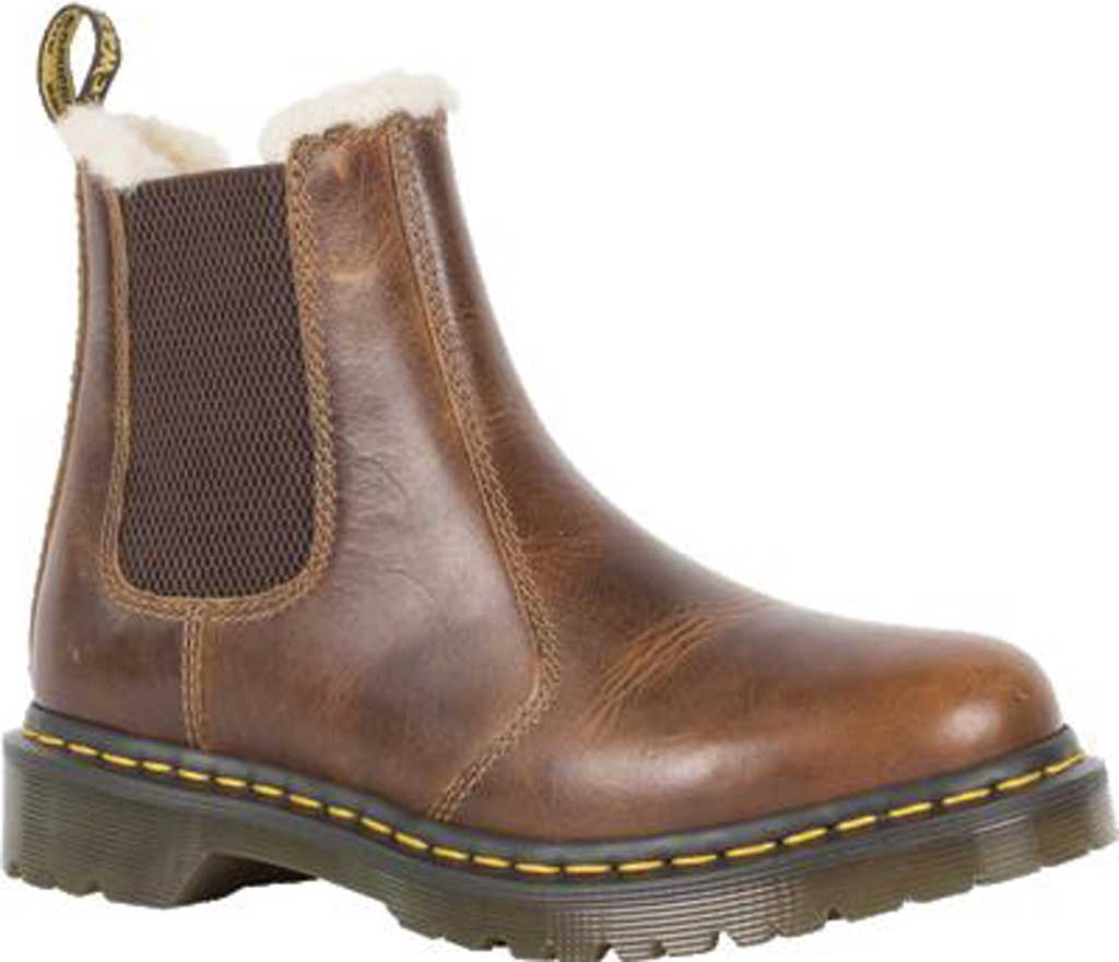 Women's Dr. Martens 2976 Leonore Chelsea Boot, Butterscotch Orleans Textured Waxy Leather, large, image 1