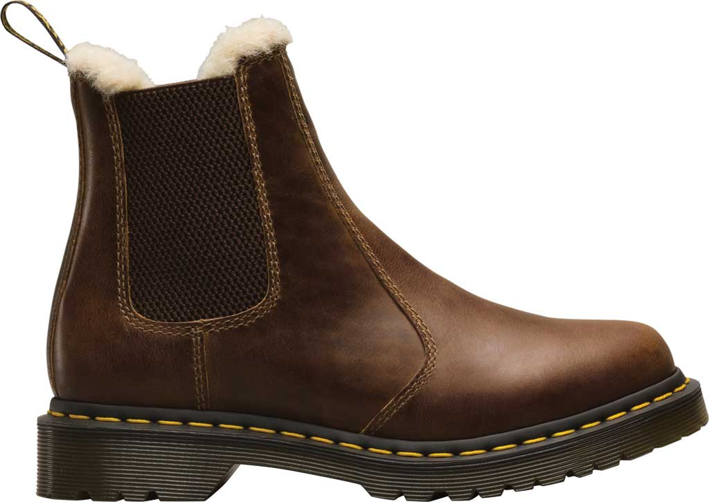 Women's Dr. Martens 2976 Leonore Chelsea Boot, Butterscotch Orleans Textured Waxy Leather, large, image 2