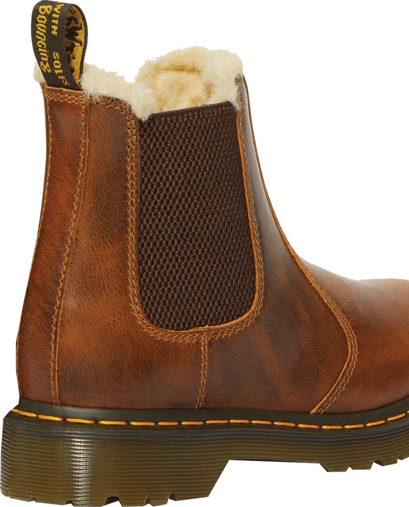 Women's Dr. Martens 2976 Leonore Chelsea Boot, Butterscotch Orleans Textured Waxy Leather, large, image 4